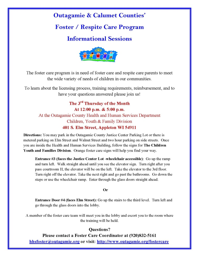 Foster Care Informational Session Flier