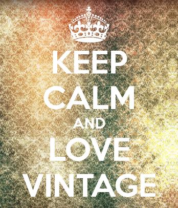 keep calm love vintage sign