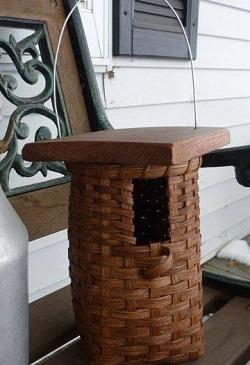 woven bird house